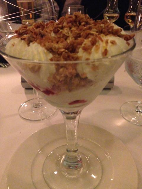 Rapberry cranachan trifle