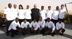 The Culinary Team with Chef David right in the center